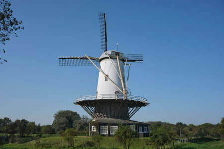 windmill 'de Koe', 'the Cow' in Veere, national monument. the Netherlands