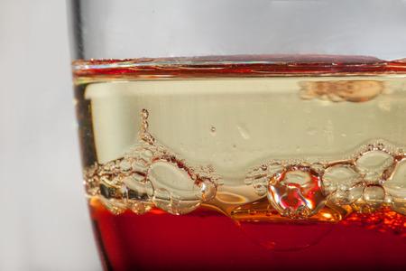 heterogeneous: Heterogeneous liquids in a glass