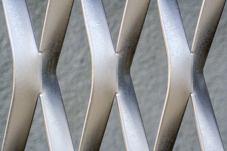 metal structure: metal structure in X form
