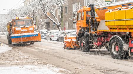 snowplugh making shoveling roads photo