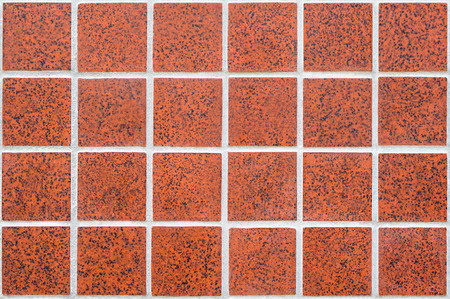 claret: 24 squares in a claret color ceramic mosaic