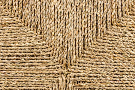 closeup view of ratan basket with horizontal and vertical lines