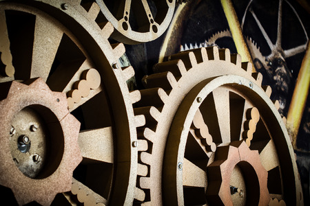 technolgy: two big gear wheel cooperating