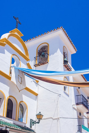 spanish architecture: old church in torremolinos, view of spanish architecture