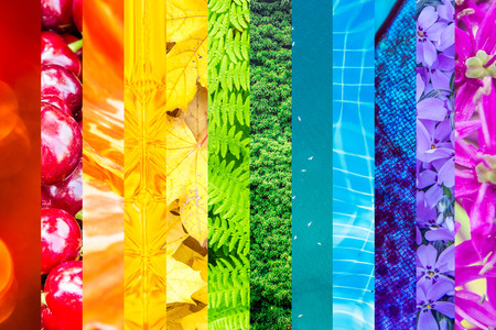 themes: many themes and textures used in rainbow colors