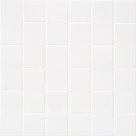 pale color: modern white wall made of pale color bricks mosaic in square form