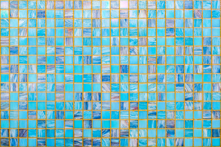 blue ceramic mosaic