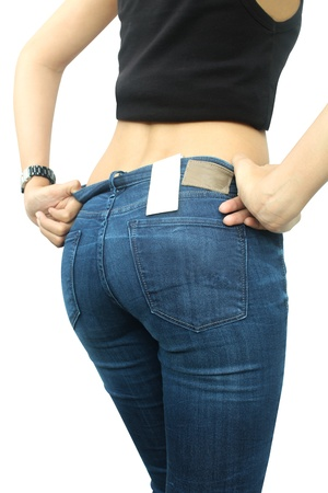 Sexy woman wearing jeans  Stock Photo