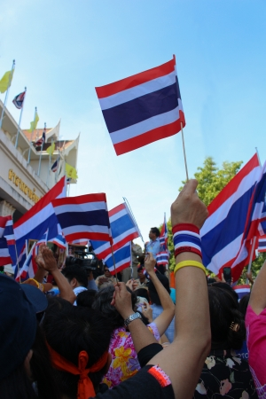 undemocratic: Thailand s protest at Democracy Monument against the government  at city hall on November 28, 2013 in Nakhonsawan, Thailand
