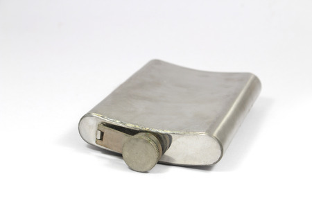 hip flask: Hip flask isolated on white