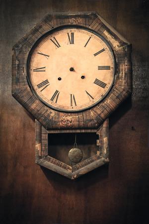 wall clock: Vintage wall clock  Stock Photo
