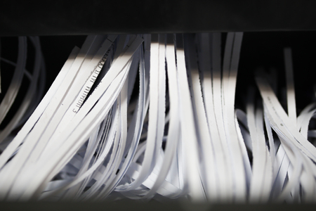 paper shredder: Shredded documents