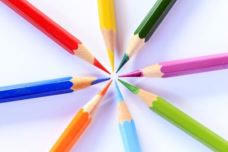 The pastel colors. Stock Photo
