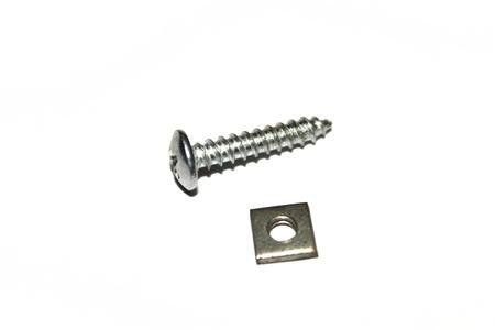 screws on white background   Stock Photo