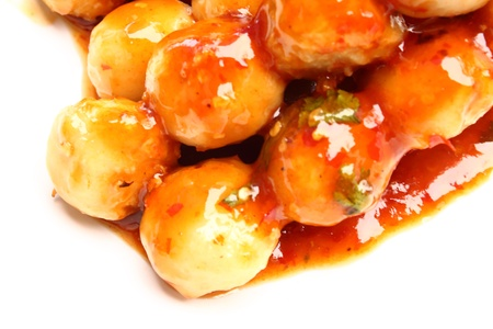 Meatballs in a spicy sauce