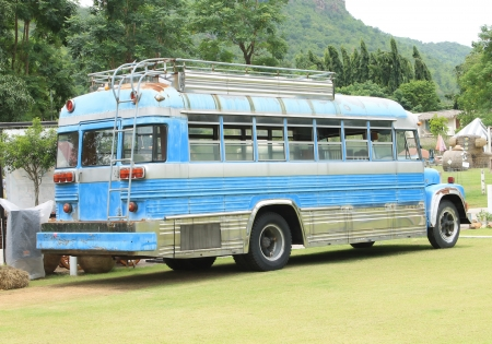 Bus in the farm