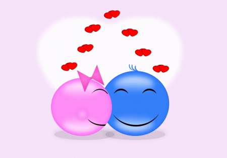 Smilies and enjoy the festival of love  photo