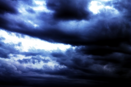 Dark thunder clouds  Stock Photo - 14301237