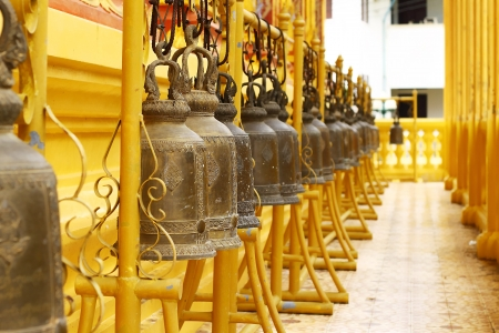 Bells around the temple in thailand