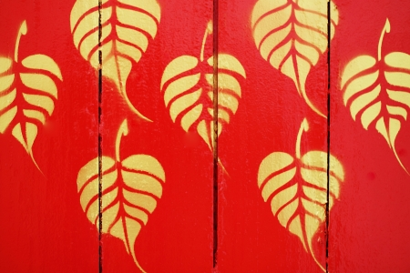 murals: Murals gold on red wall