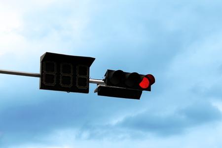 Traffic lights red