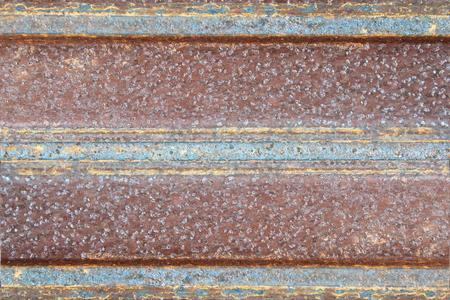 Rust zinc wall