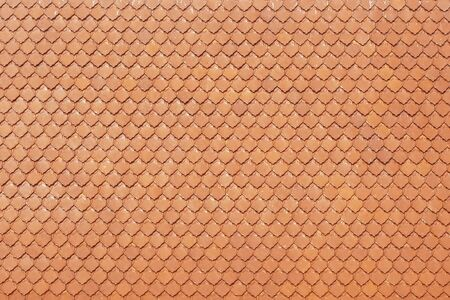 Orange roof  tiles on the texture background  Standard-Bild