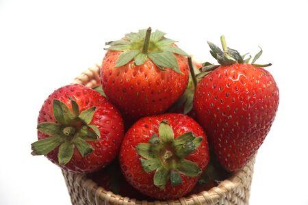 Strawberries on a white background Standard-Bild