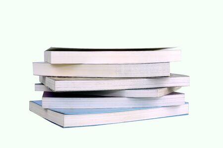 Books on a white background Standard-Bild