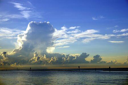 Sea and a lot of clouds Standard-Bild