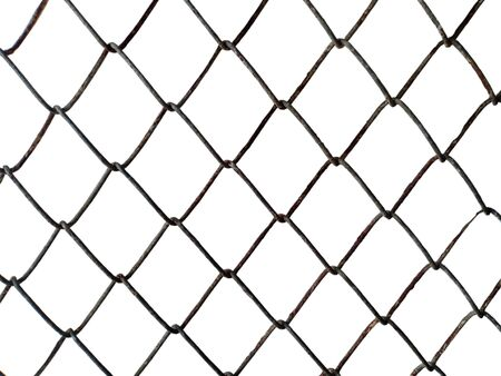 Decorative wire mesh of  isolated on white background