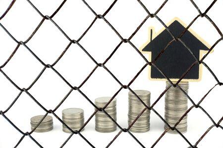 Decorative wire mesh of money background