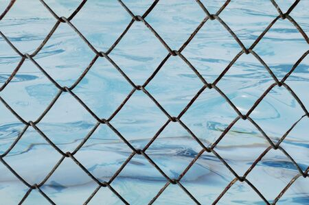 Decorative wire mesh of water background