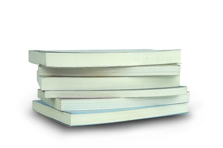 A book on a white background