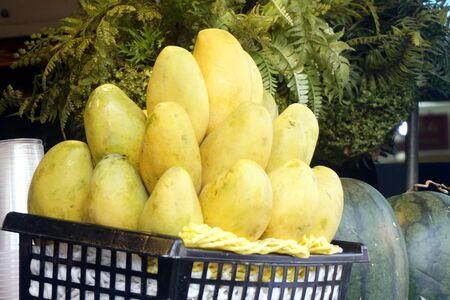 Ripe mango in the basket
