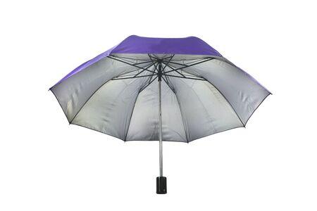 Spread an umbrella on a white background