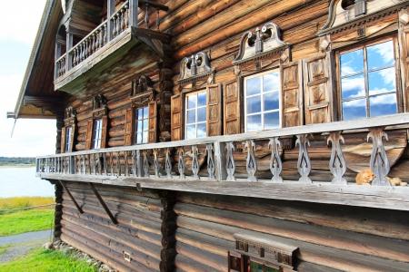 onega: Wooden old house, Kizhi   Stock Photo