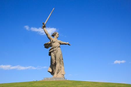 Volgograd monument Motherland calls, Russia photo