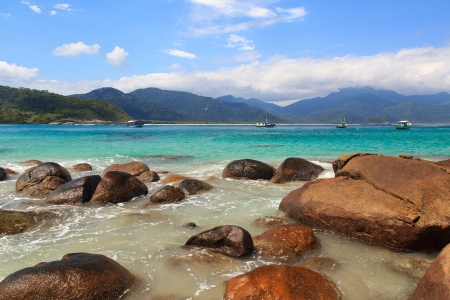 Beautiful beach Aventueiro, Ilha Grande, Brazil