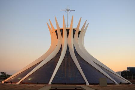 Metropolitan Cathedral in Brasilia, Brazil Editoriali