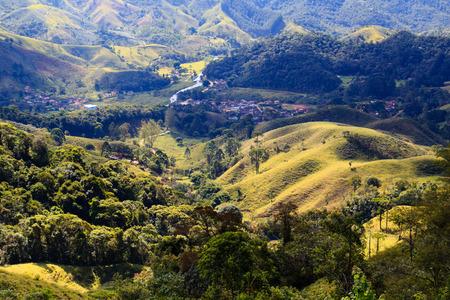 Mountain landscape in state Rio de Janeiro, Brazil 免版税图像