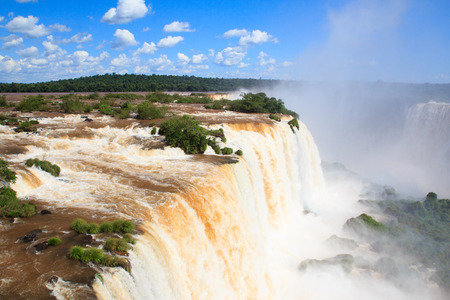 Iguazu falls, Devil s throat, view from Brazil photo