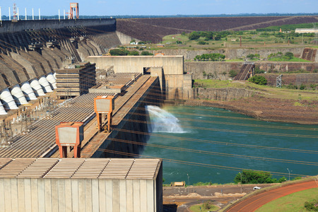 Itaipu Dam, hydroelectric power station, Brazil, Paraguay