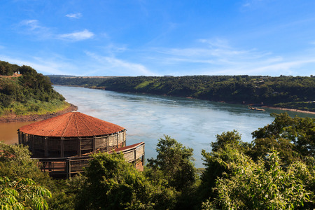 the borderline: The Triple Frontier from brazilian side, Paraguay, Argentina and  Brazil