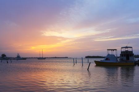 martha: Sunset boats Caribbean sea Luminous Lagoon, Martha Brae River, Jamaica