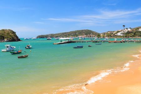 armacao: Pier, boats, sea in Armacao dos Buzios, Rio de Janeiro, Brazil