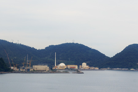 alberto: Angra Planta de Energ�a Nuclear, Centro Nuclear Almirante �lvaro Alberto, R�o de Janeiro, Brasil, enfoque selectivo Editorial