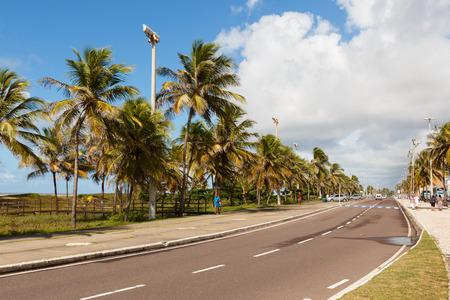 orla: ARACAJU, SEBRAZIL - JUNE 24: Catwalk Passarela de caranguejo on famous beach Orla da Atalaia on June 24, 2016 in Aracaju. Aracaju is capital of Sergipe, hosts 7 teams for Summer Olympics. Selective focus