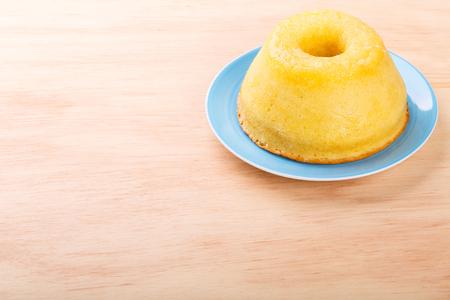 Brazilian sweet dessert orange cake. Selective focus. Copy space