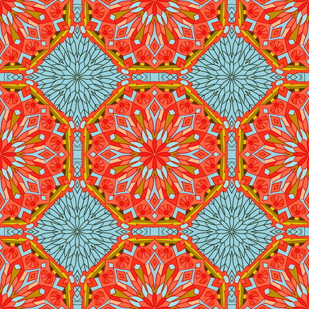 mandalas: Seamless pattern with mandalas in beautiful colors for your design. Vector background